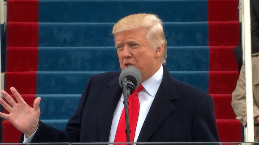 Full Text President Donald Trumps Inauguration Speech Abc News