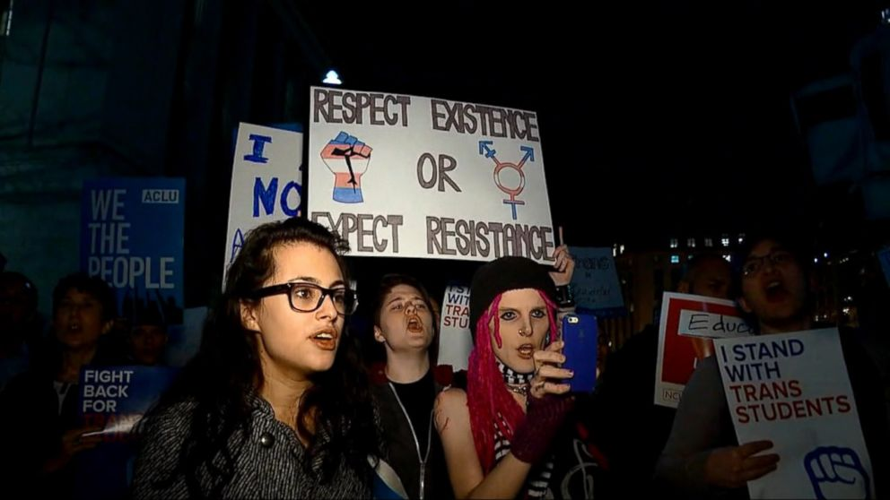 Trump's reversal of transgender bathroom guidance contradicts his past claims of support