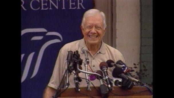 Oct. 11, 2002: Jimmy Carter wins the Nobel peace prize