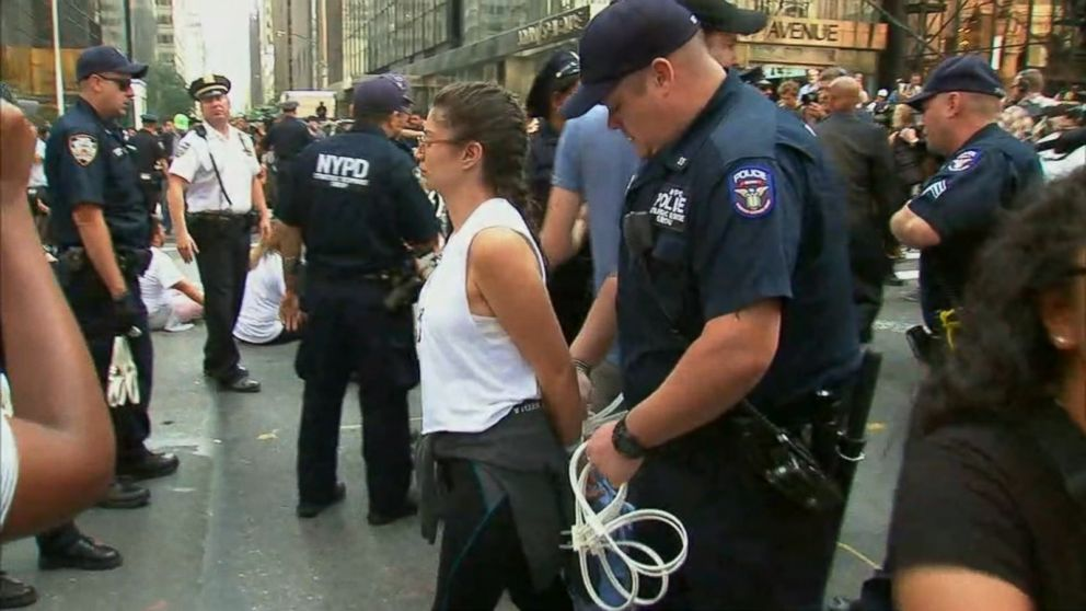 Daca Demonstration In New York Leads To Arrests Outside