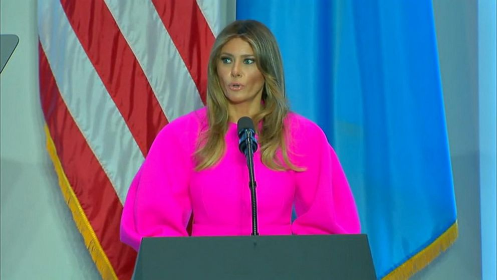 First lady Melania Trump delivers remarks at UN luncheon ...
