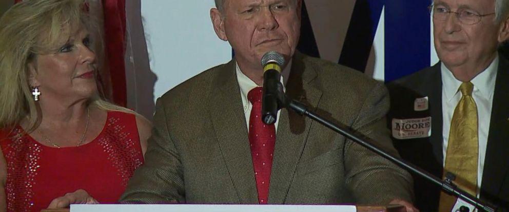 VIDEO: Roy Moore speaks after projected victory in Alabama GOP Senate primary runoff