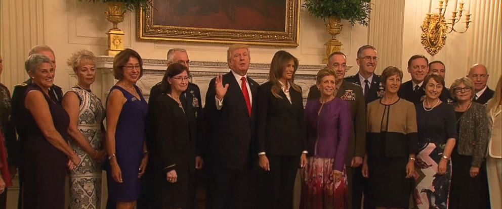 "VIDEO: President Donald Trump made seemingly cryptic threatening remarks during a White House gathering of U.S. military leaders Thursday night, saying it represents ""the calm before the storm."""