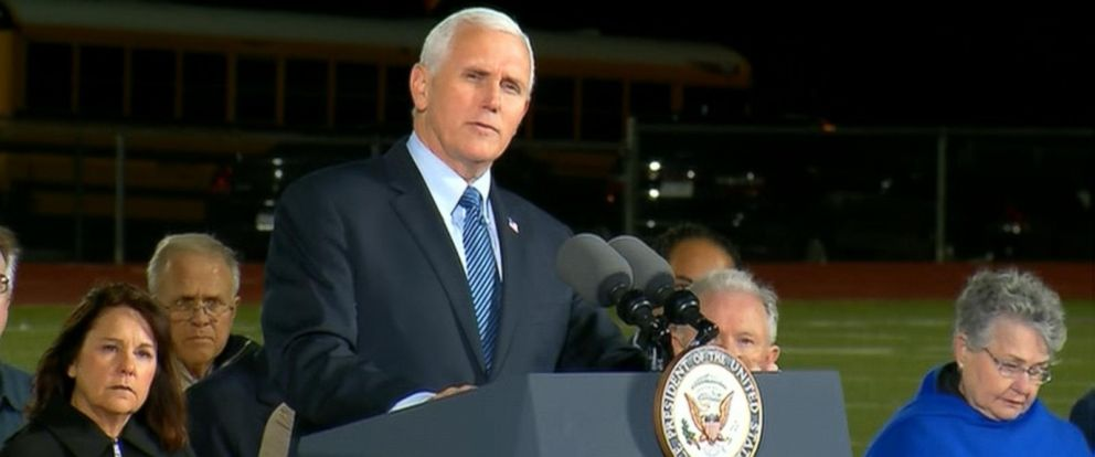 """VIDEO: """"Faith tells us we overcome evil with good,"""" the vice president told the crowd."""