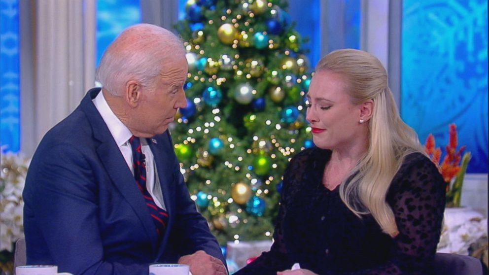 I couldnt get through your book, I tried, Meghan McCain shared with former Vice President Joe Biden on The View on Wednesday. Your son Beau had the same cancer that my father was diagnosed with six months ago. I think about Beau almost every day.