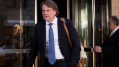 McGahn was named White House counsel during the Trump administration transition.