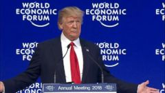 VIDEO: President Donald Trump defended his America First policy agenda on center stage Friday at the World Economic Forum in Davos, Switzerland.