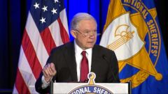 Politician Direct 180213_atm_sessions_16x9_240 WATCH: Sessions draws fire for 'Anglo-American heritage' remark at sheriffs' conference ABC Politics  Politics