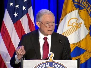 Politician Direct 180213_atm_sessions_4x3_384 WATCH: Sessions draws fire for 'Anglo-American heritage' remark at sheriffs' conference ABC Politics  Politics