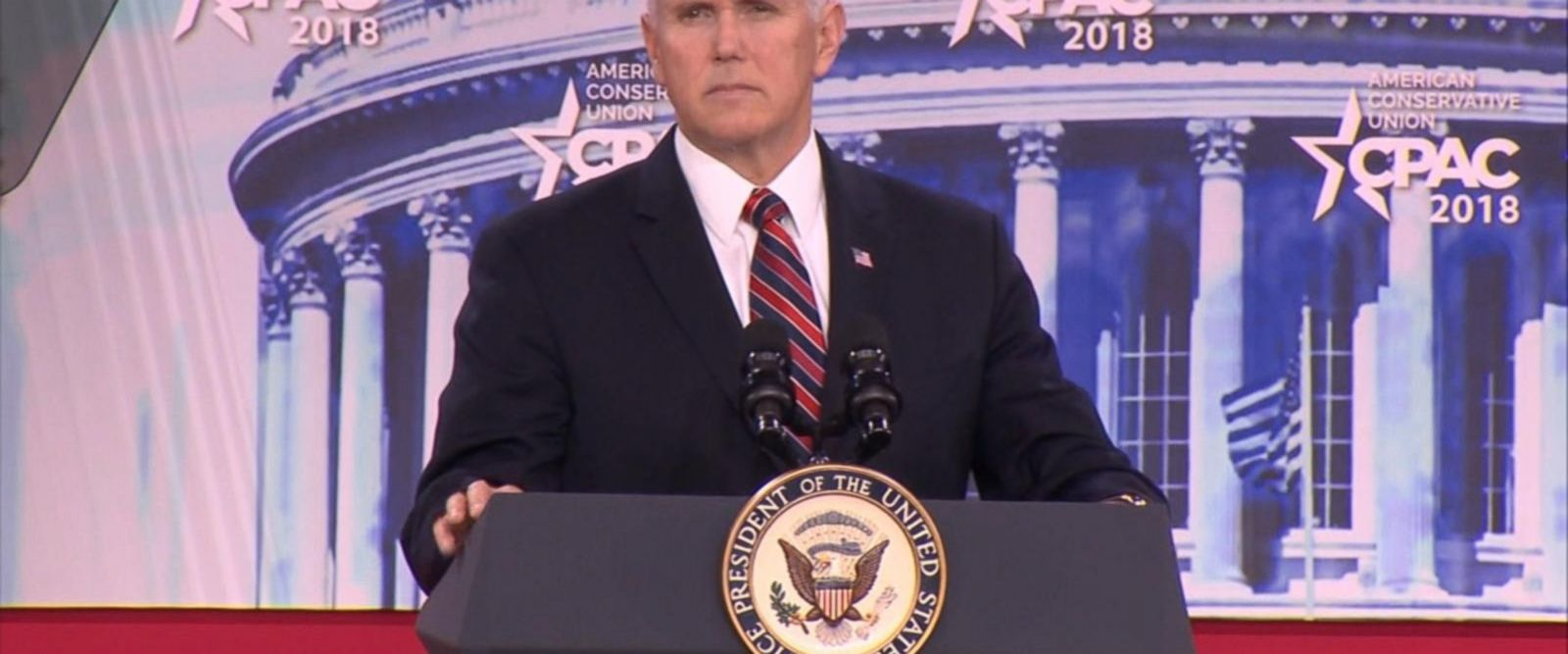 VIDEO: Vice President Mike Pence said the school safety will be a top national priority in a speech at the Conservative Political Action Conference on Thursday.
