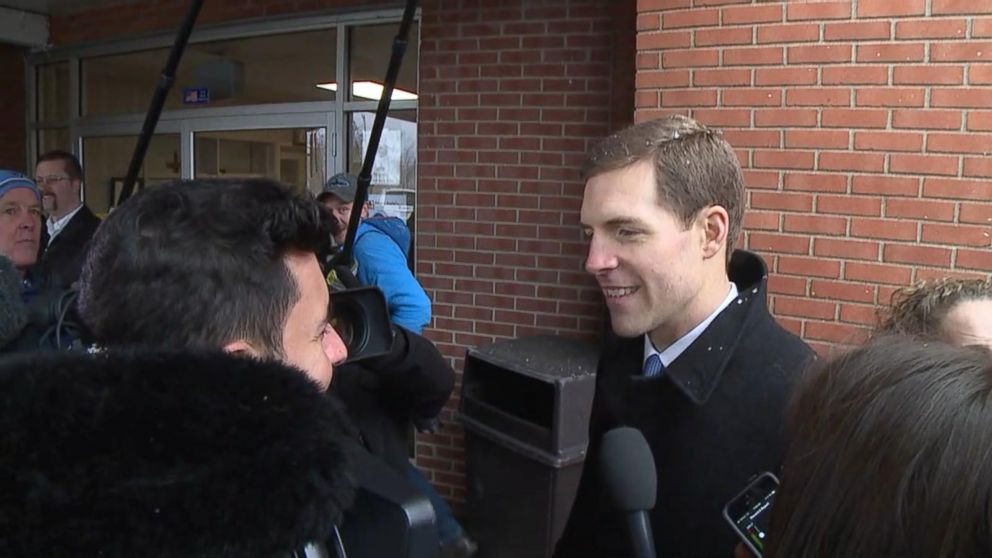 VIDEO: ABCs Tom Llam   as talks to Dem congressional candidate Conor Lamb on election day