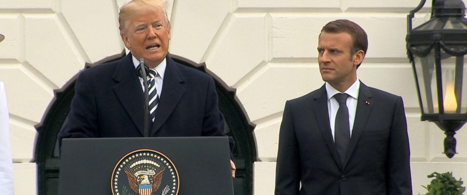 "VIDEO: President Trump thanked the French president and military for ""taking decisive action"" against Syria."