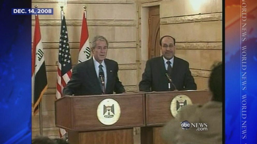 Why Were In Iraq And Why Bush And >> Dec 14 2008 Iraqi Reporter Throws His Shoes At George W Bush