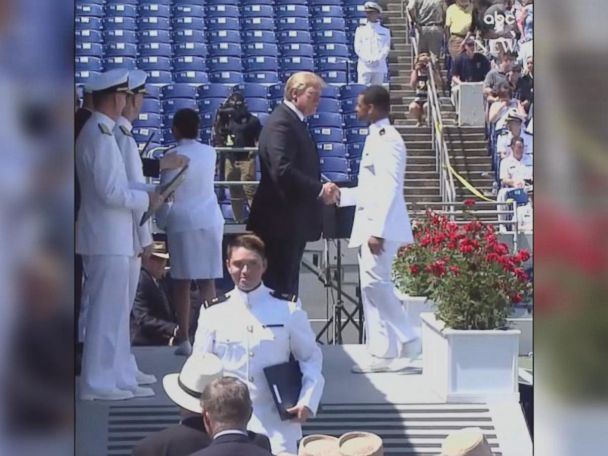 WATCH:  Trump shakes all Naval Academy graduates' hands