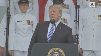 Trump's Memorial Day tweet sparks backlash Video Trump's Memorial Day tweet sparks backlash Video 180528 abc social trump arlington hpMain 16x9 384