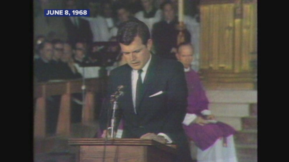 Robert Kennedy Why Cant You Actually >> June 8 1968 Ted Kennedy Gives Eulogy At Brother Robert F