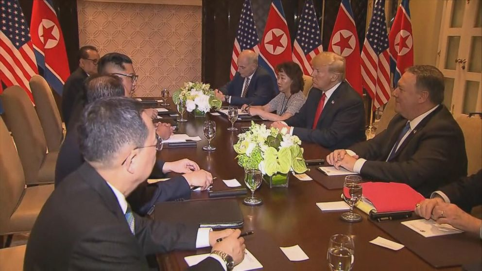 President Trump was joined by Sec. of State Pompeo, National Security Advisor John Bolton, and Chief of Staff John Kelly.