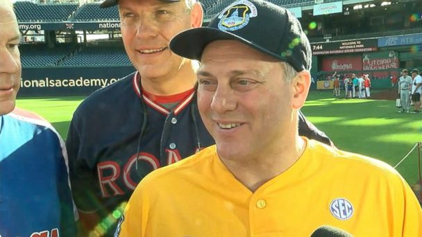 Steve Scalise to start at second base 1 year after shooting