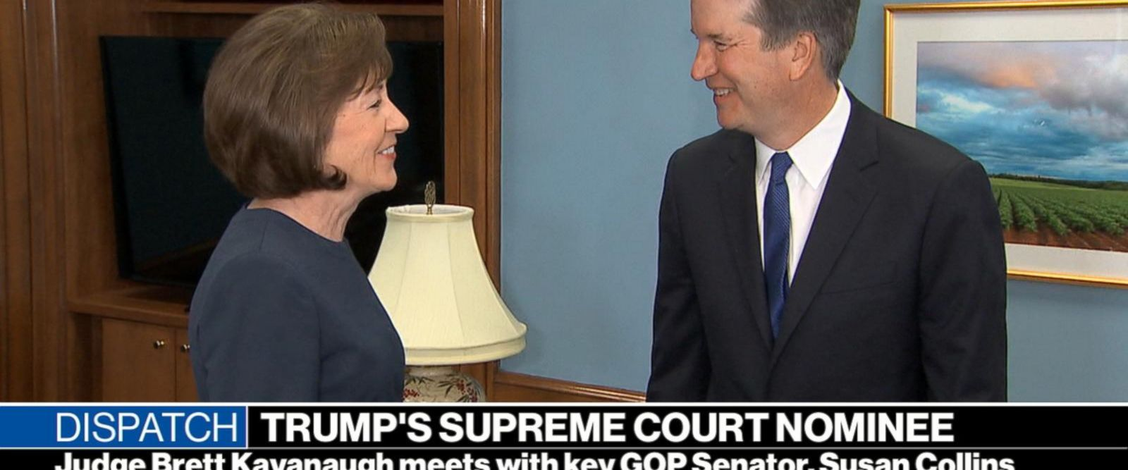 VIDEO: President Trump's Supreme Court nominee courts key GOP senator