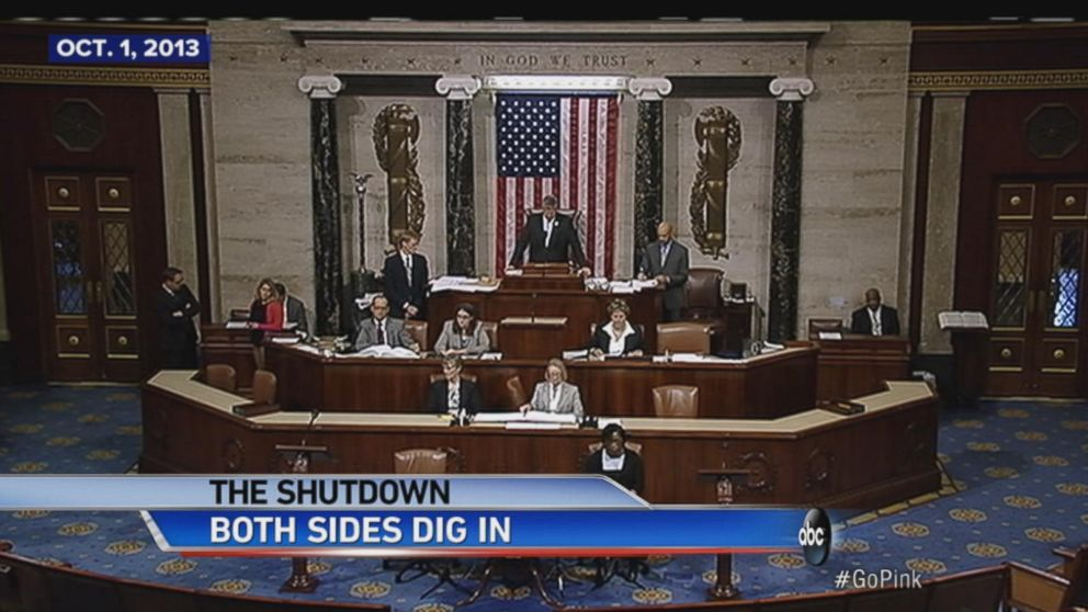 First federal government shutdown in 17 years occurs.