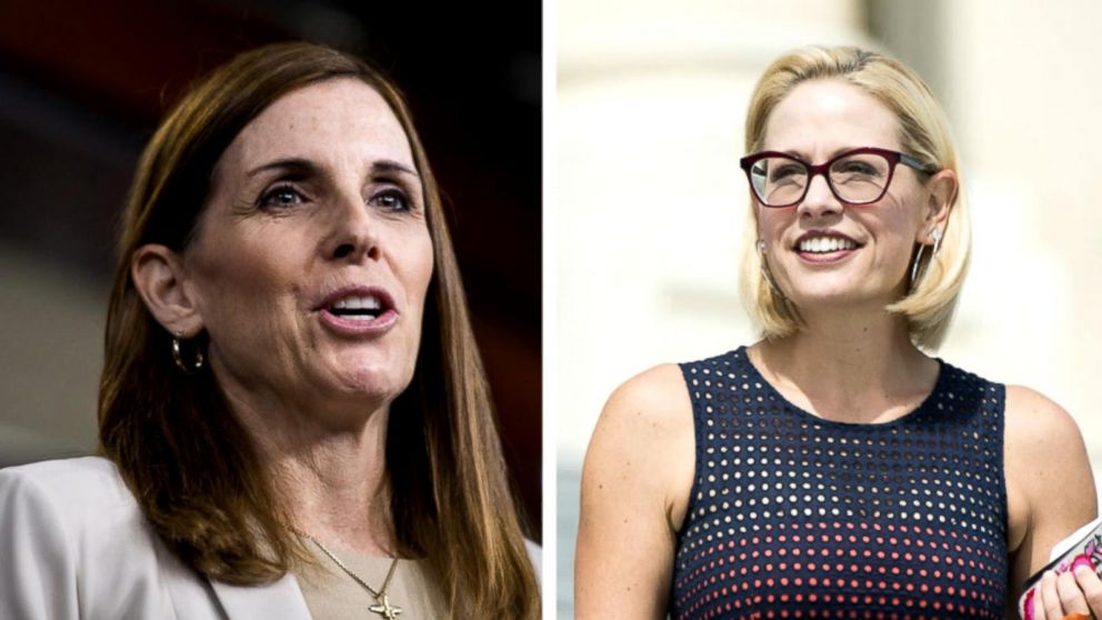 Republican Martha Mc Sally and Democrat Kyrsten Sinema are competing to fill Republican Jeff Flakes Senate seat