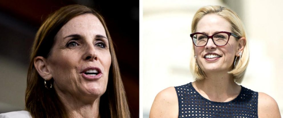 Republican Martha McSally and Democrat Kyrsten Sinema are competing to fill Republican Jeff Flakes Senate seat.