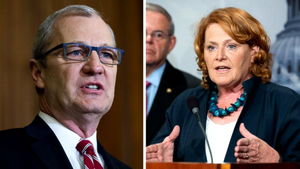 Incumbent Democrat Heidi Heitkamp is in a tight race against Republican challenger Kevin Cramer.