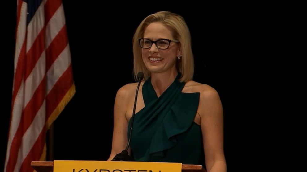 democrat kyrsten sinema wins arizona us senate seat video abc news. Black Bedroom Furniture Sets. Home Design Ideas