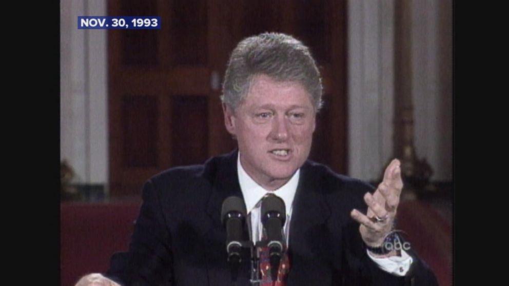 President Clinton signs the Brady Bill.