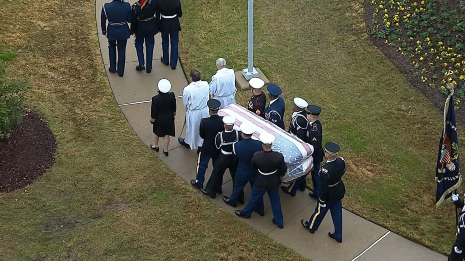 President George H W Bush Laid To Rest Next To Wife Daughter Abc