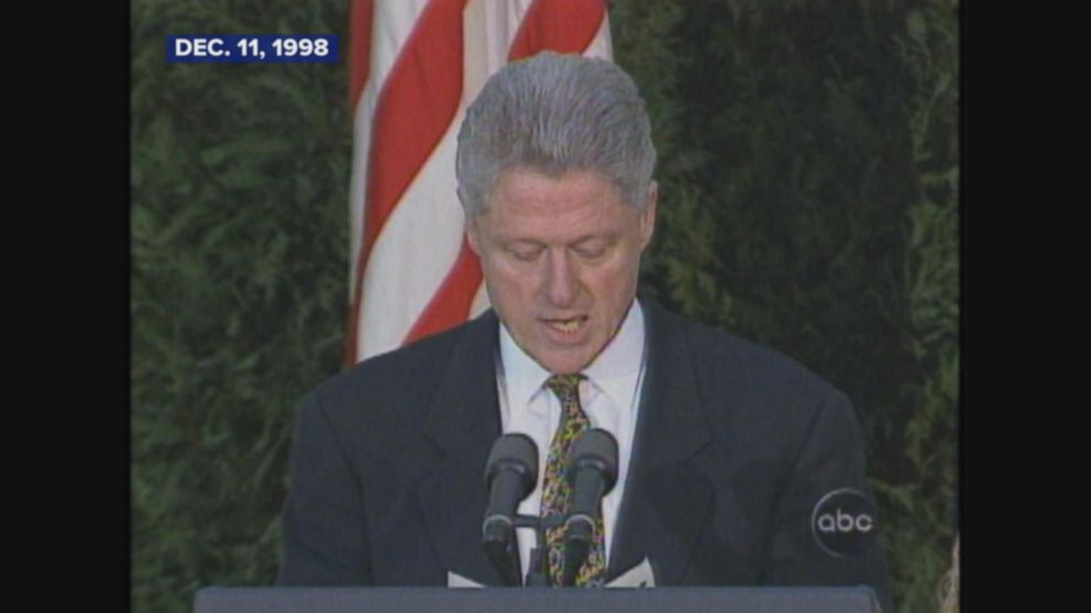 House votes to impeach President Clinton.