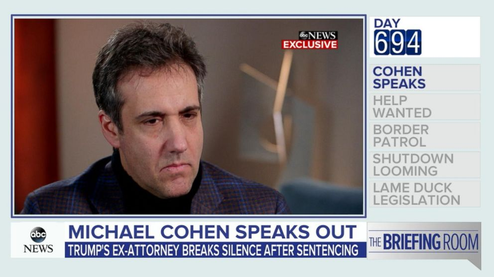 Cohen: President Trump 'doesn't tell the truth'