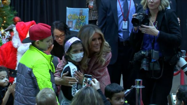 Melania Trump makes Christmas visit to children's hospital after taking on critics