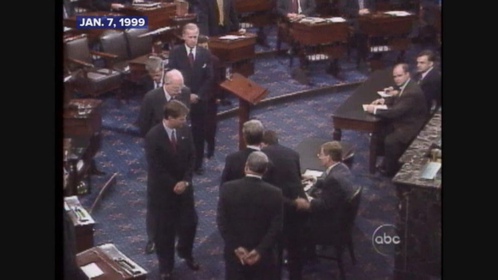 The Senate trial in the impeachment of President Bill Clinton begins.