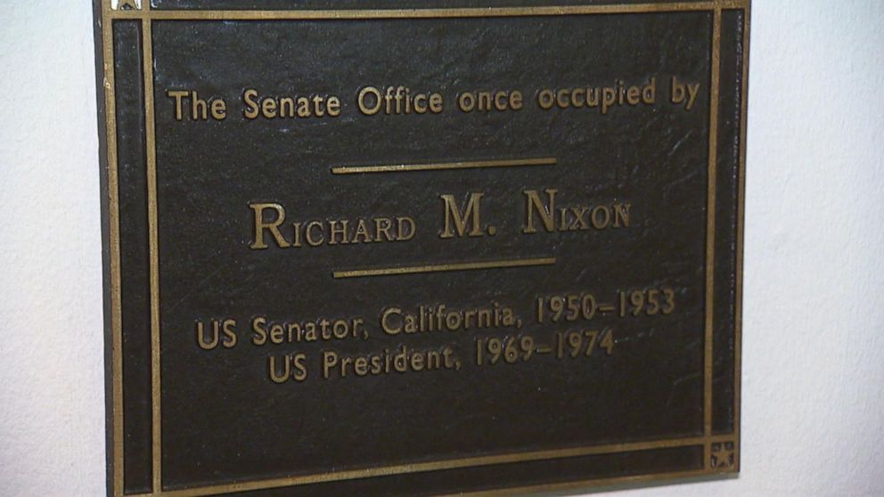 Nixon office Now Sections Abc News Inside The Senate Offices Richard Nixon Video Abc News