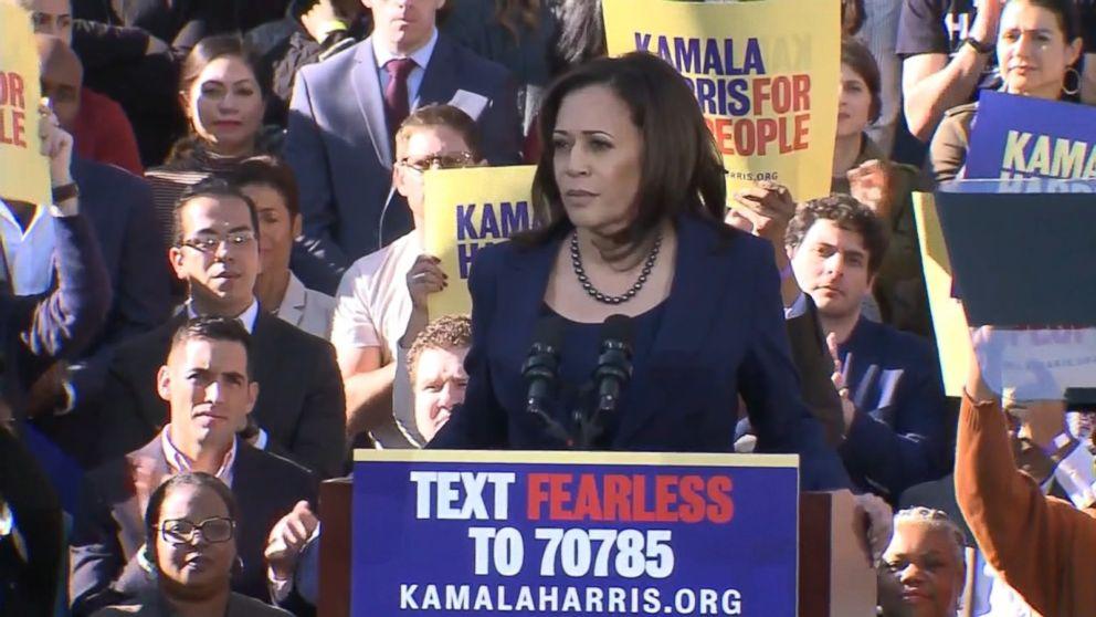 Sen Kamala Harris Kicks Off 2020 Campaign Criticizing Trump And Calling For Unity Abc News