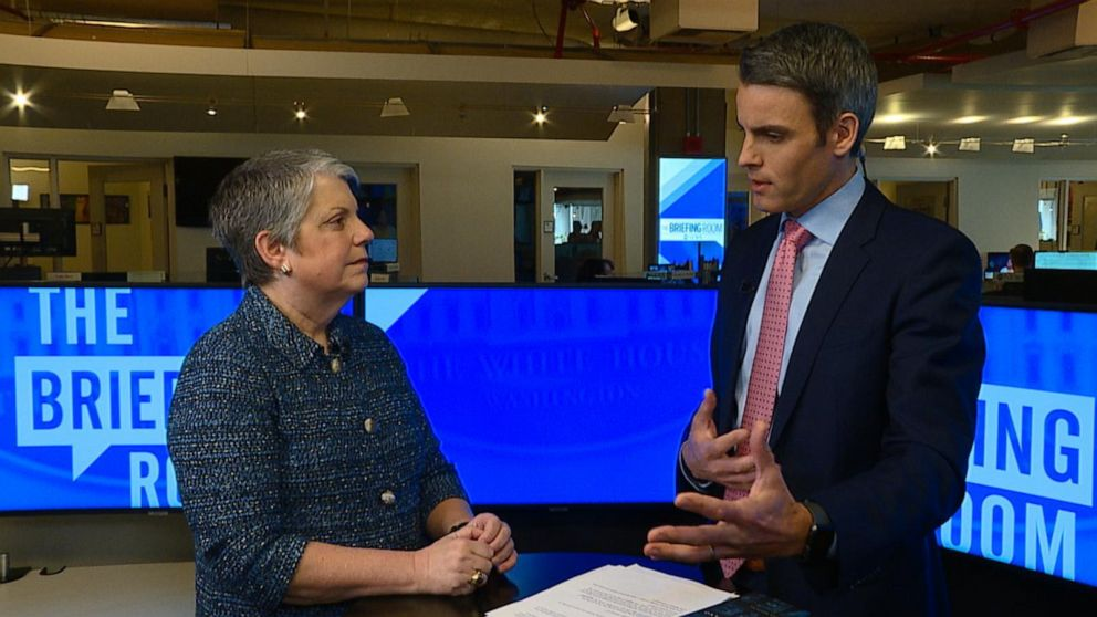 Janet Napolitano speaks with ABC News' Devin Dwyer