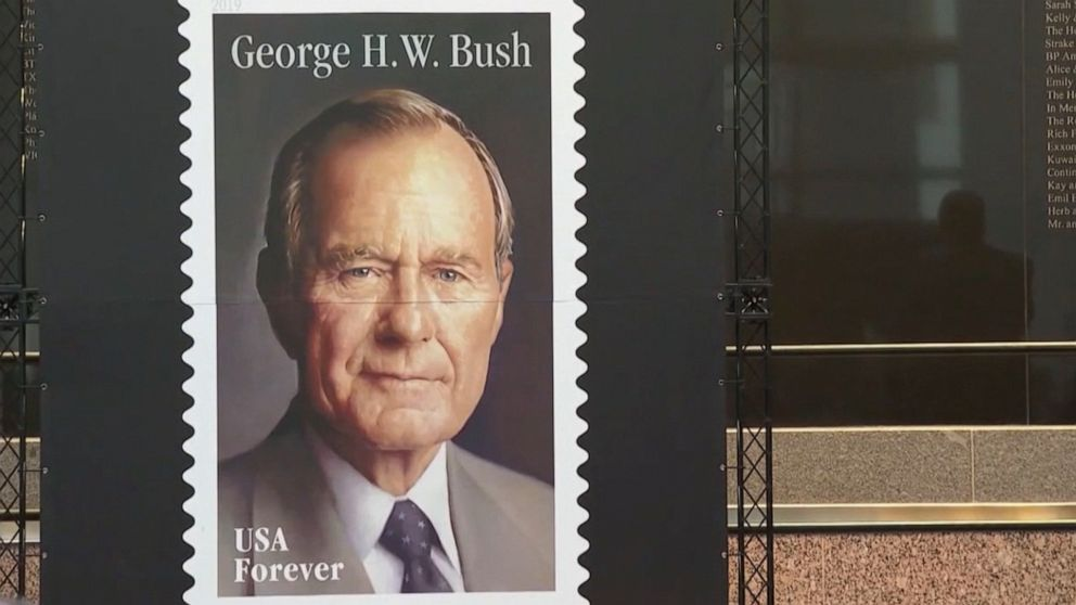US Postal Service announces new 'Forever' stamp honoring the late George H.W. Bush