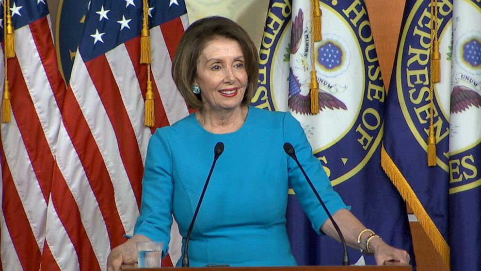 Nancy Pelosi accepts the JFK Profile in Courage Award with a 'full and humble heart.'