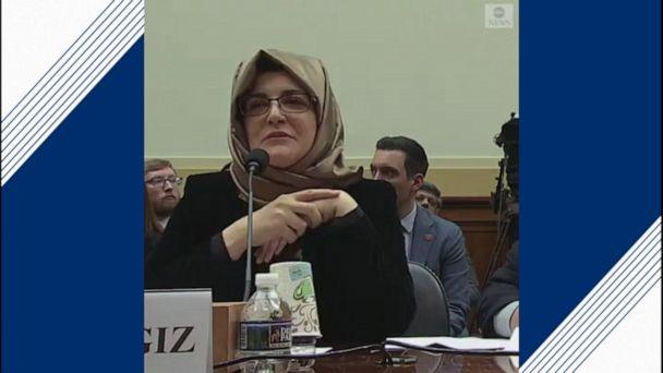 Jamal Khashoggi's fiancee testifies on the Hill