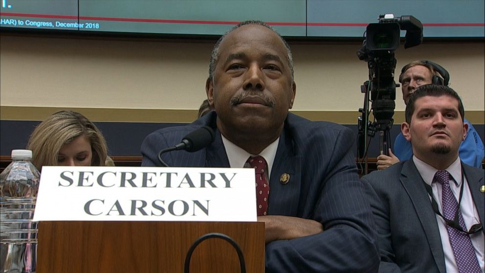 Pressed by female lawmaker, Ben Carson urges members to think 'logically,' not 'emotionally'