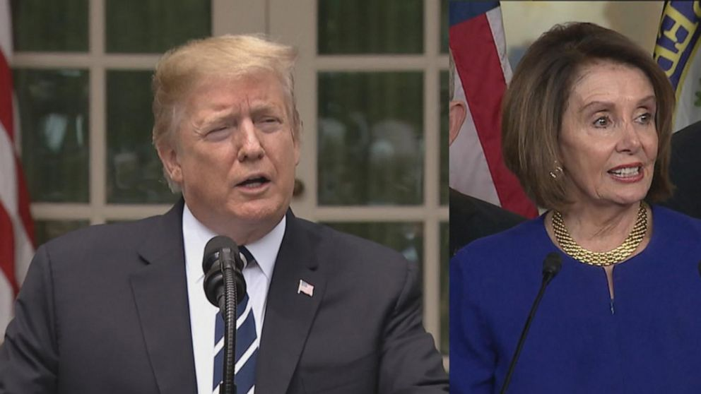 Trump denies 'temper tantrum' during infrastructure meeting