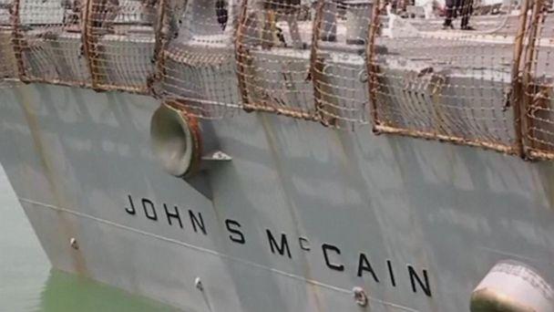 Trump denies involvement in hiding name of USS McCain battleship