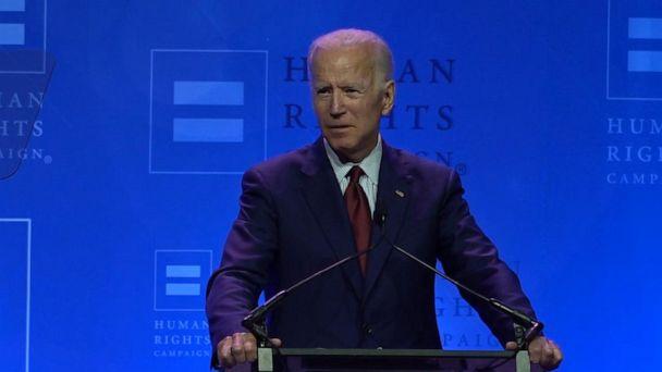 Biden calls Trump 'disaster for human rights'