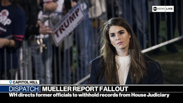 White House directs Hope Hicks, Annie Donaldson to not comply with subpoenas