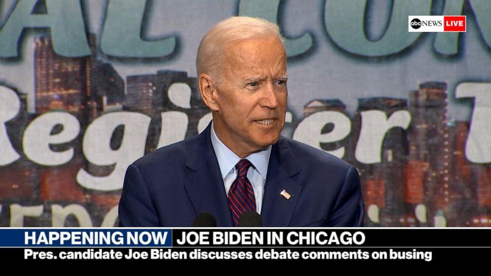 Biden clarifies position on busing after debate with Harris