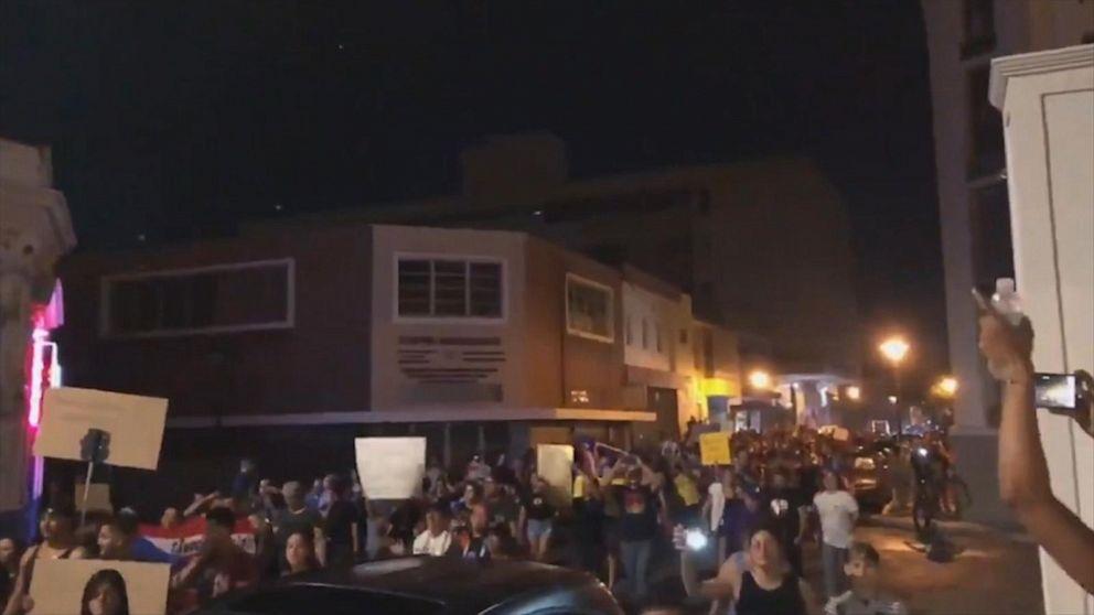 Protesters in Puerto Rico call for Gov. Rossello's resignation