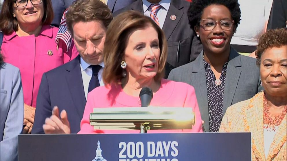 Pelosi pledges Dems 'will own August' as Democrats mark 200 days of House majority