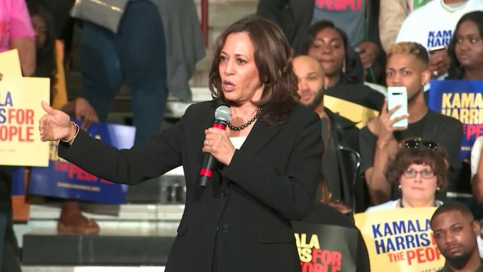 Sen. Kamala Harris questions whether America would elect a woman of color as president