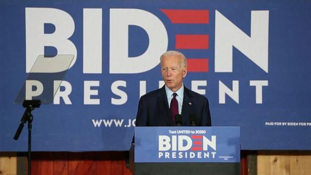 Biden says Trump encourages white supremacy